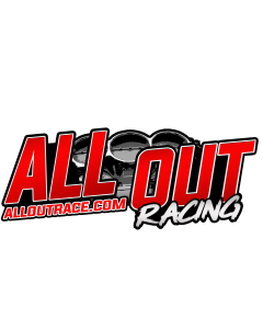 ALL OUT Racing Decal- Qty 2