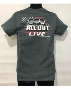 New ALL OUT Live Official Event T Shirt - Men's!
