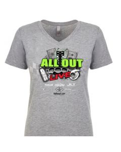 ALL OUT Live Official Event T Shirt - Women's - V Neck